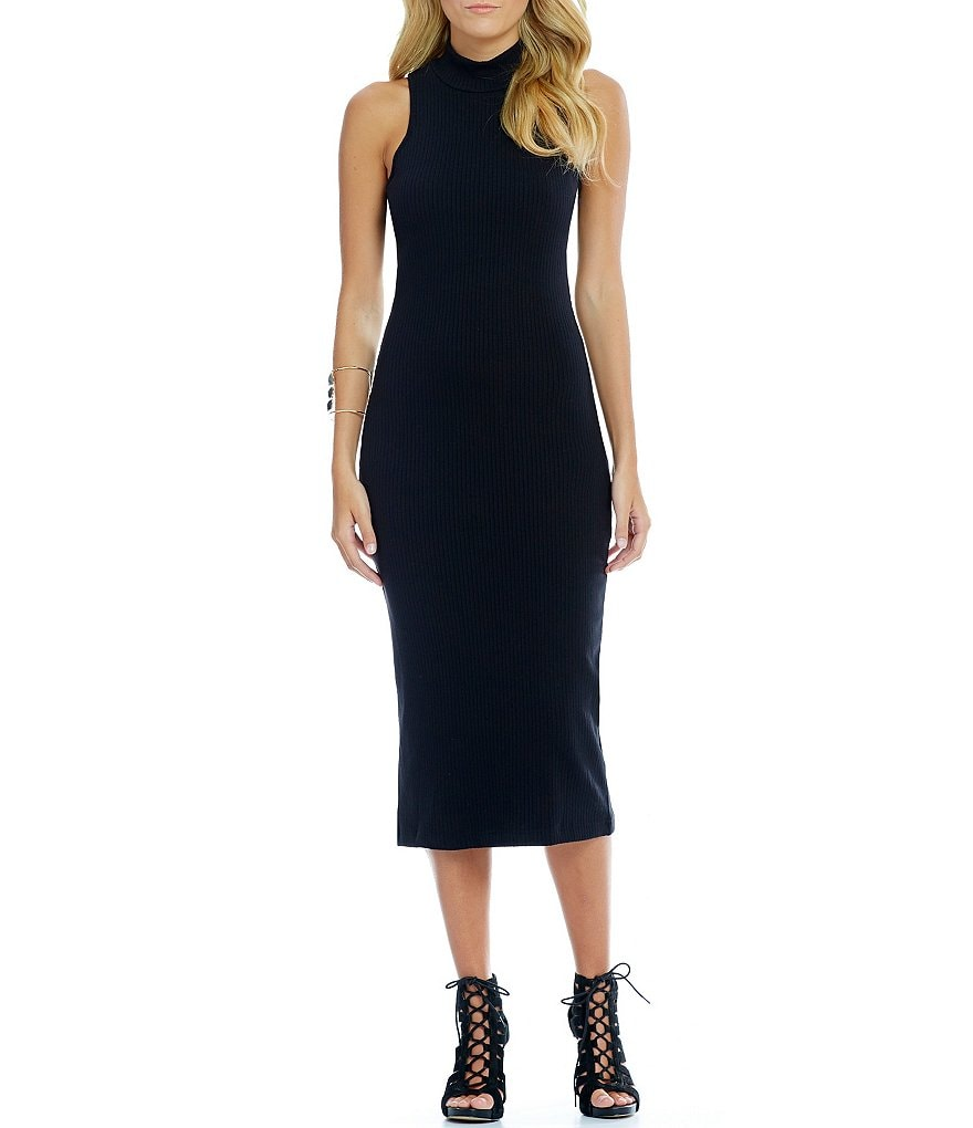 GB Mockneck Midi Sheath Dress