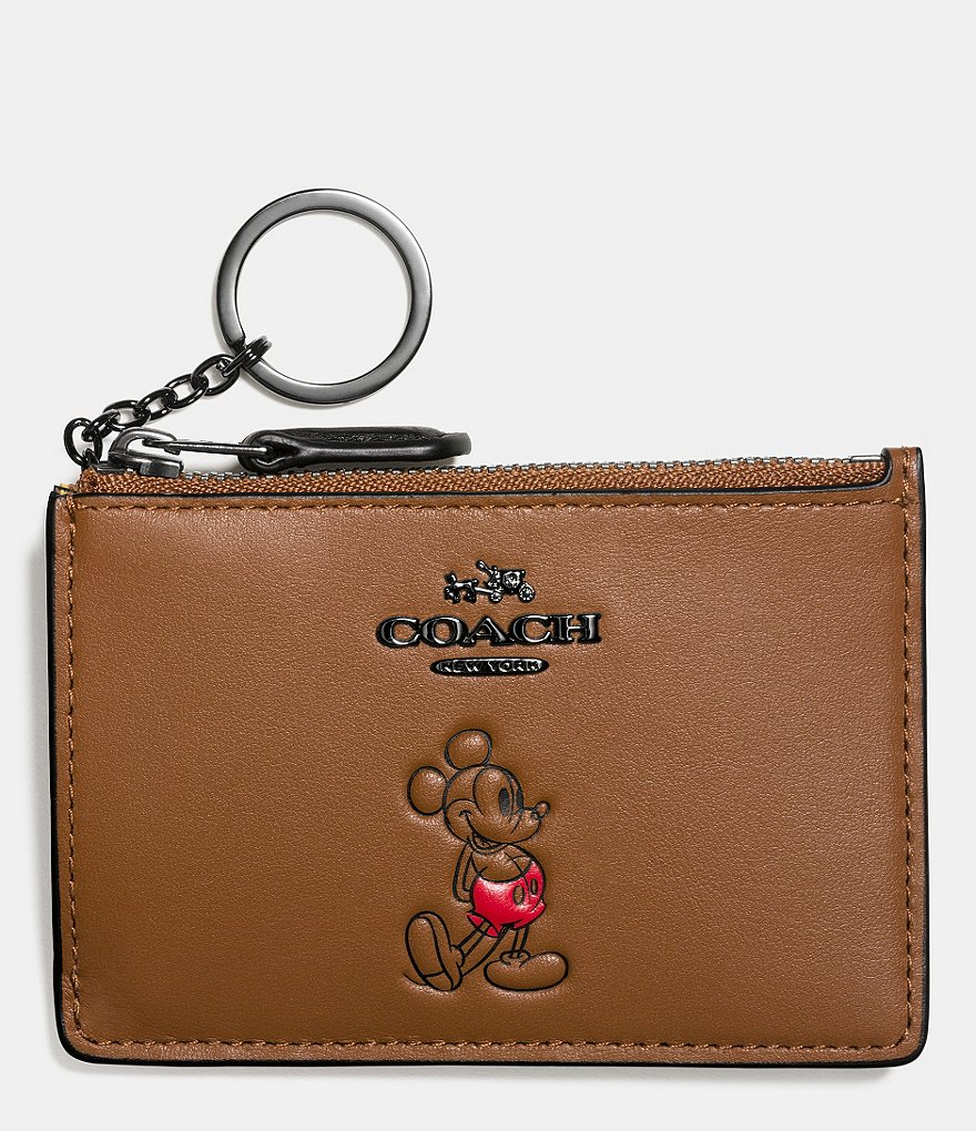 COACH BOXED MICKEY MINI ID SKINNY IN CALF LEATHER