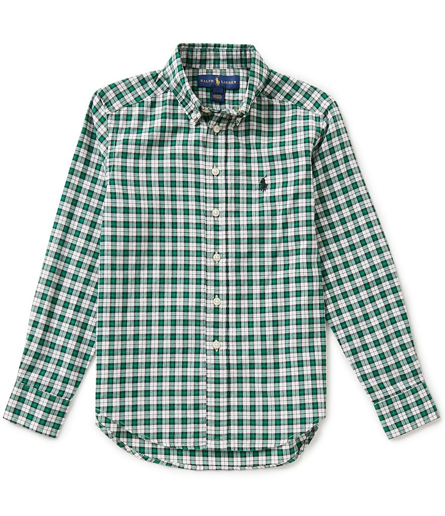 Ralph Lauren Childrenswear Big Boys 8-20 Small-Check Twill Shirt