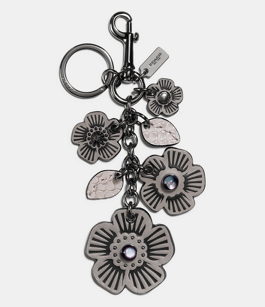 COACH MULTI WILLOW FLORAL BAG CHARM