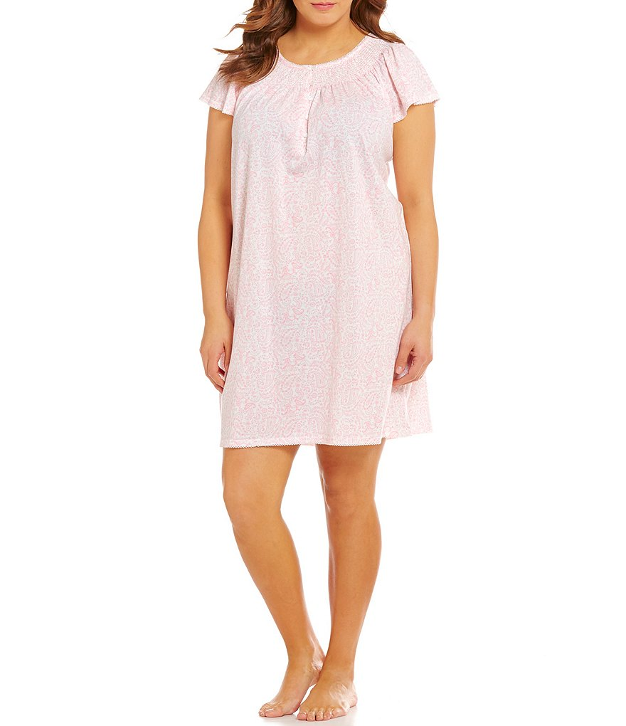 Miss Elaine Plus Paisley Nightgown