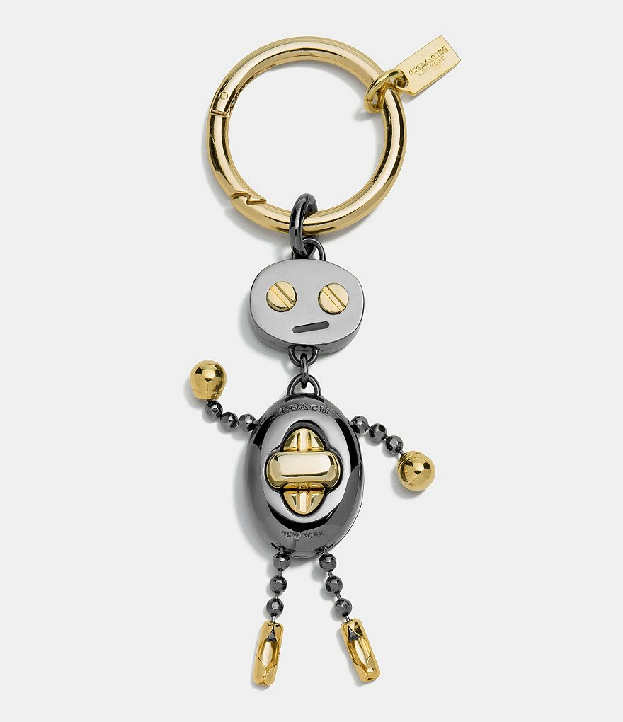 COACH BOXED ROBOT KEY RING