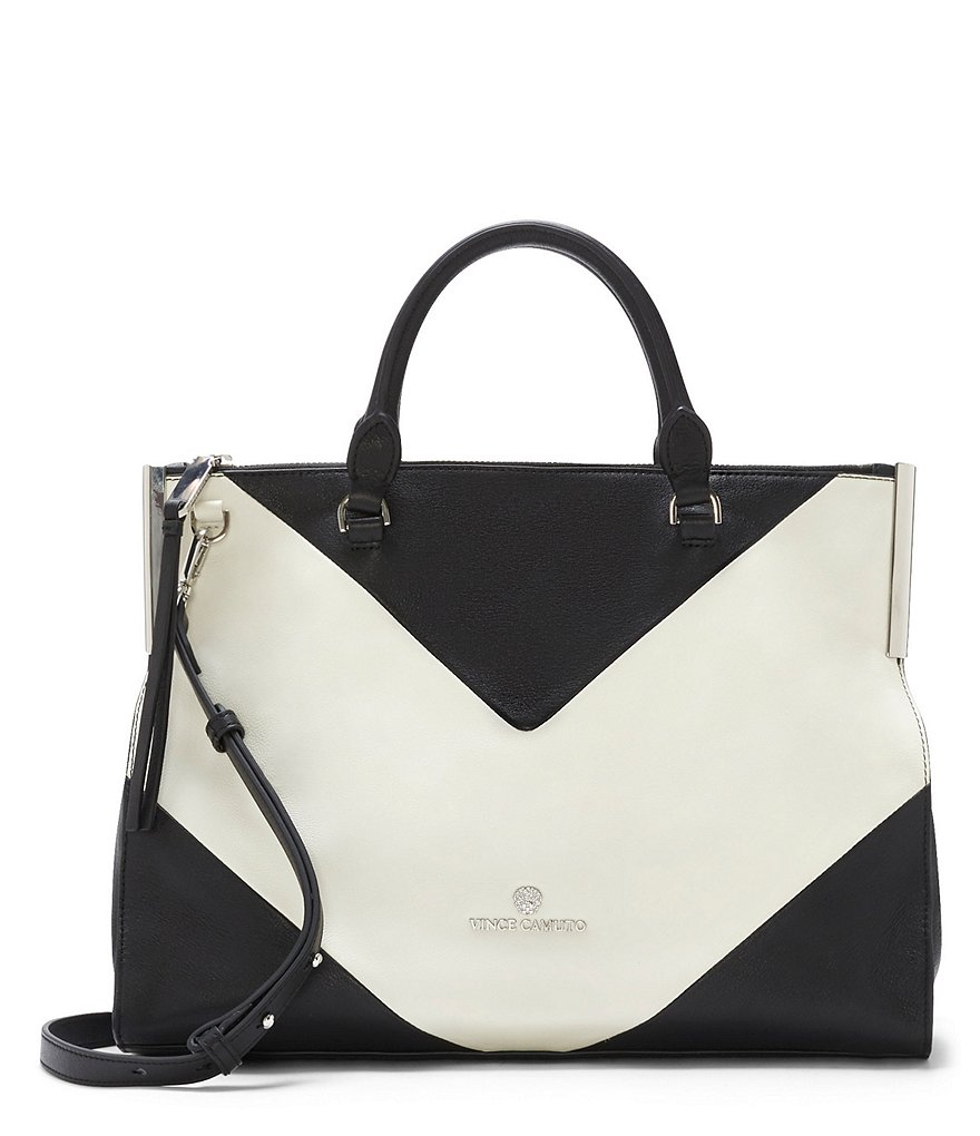 Vince Camuto Tina Chevron Color Block Satchel