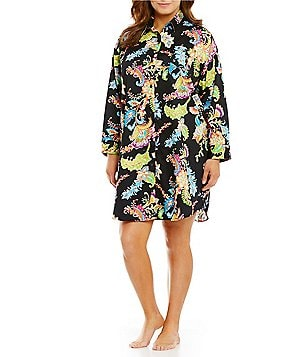 Lauren Ralph Lauren Plus His Shirt Paisley Sateen Sleepshirt