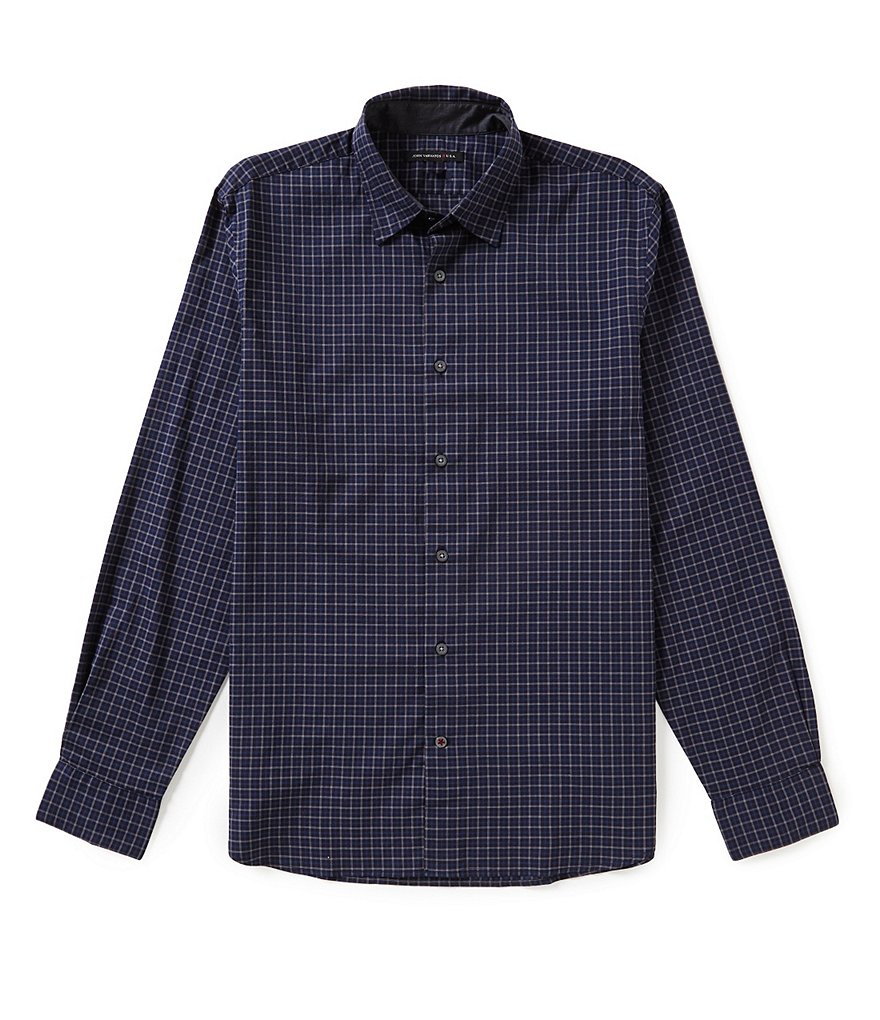 John Varvatos Star USA Checked Long-Sleeve Woven Shirt