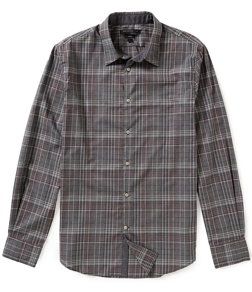 John Varvatos Star USA Plaid Long-Sleeve Woven Shirt