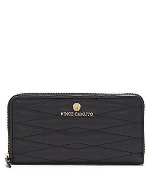 Vince Camuto Tina Diamond-Quilted Zip Wallet