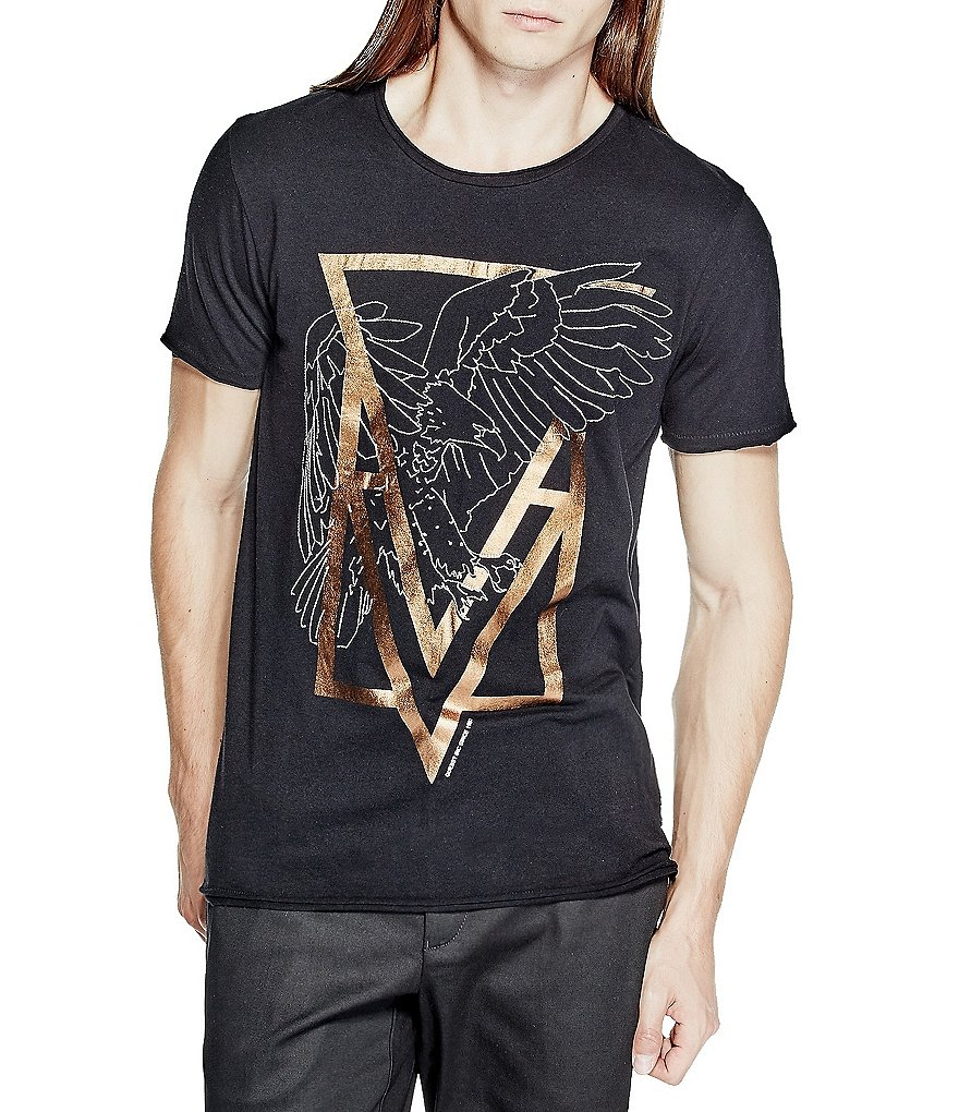 Guess Eagle-Printed Short-Sleeve Graphic Tee