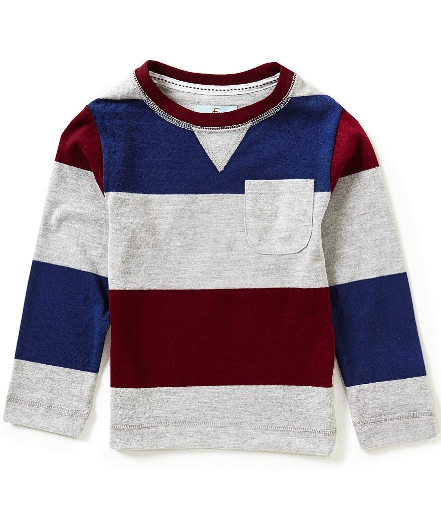 Class Club Little Boys 2T-7 Wide Stripe Crewneck Pullover