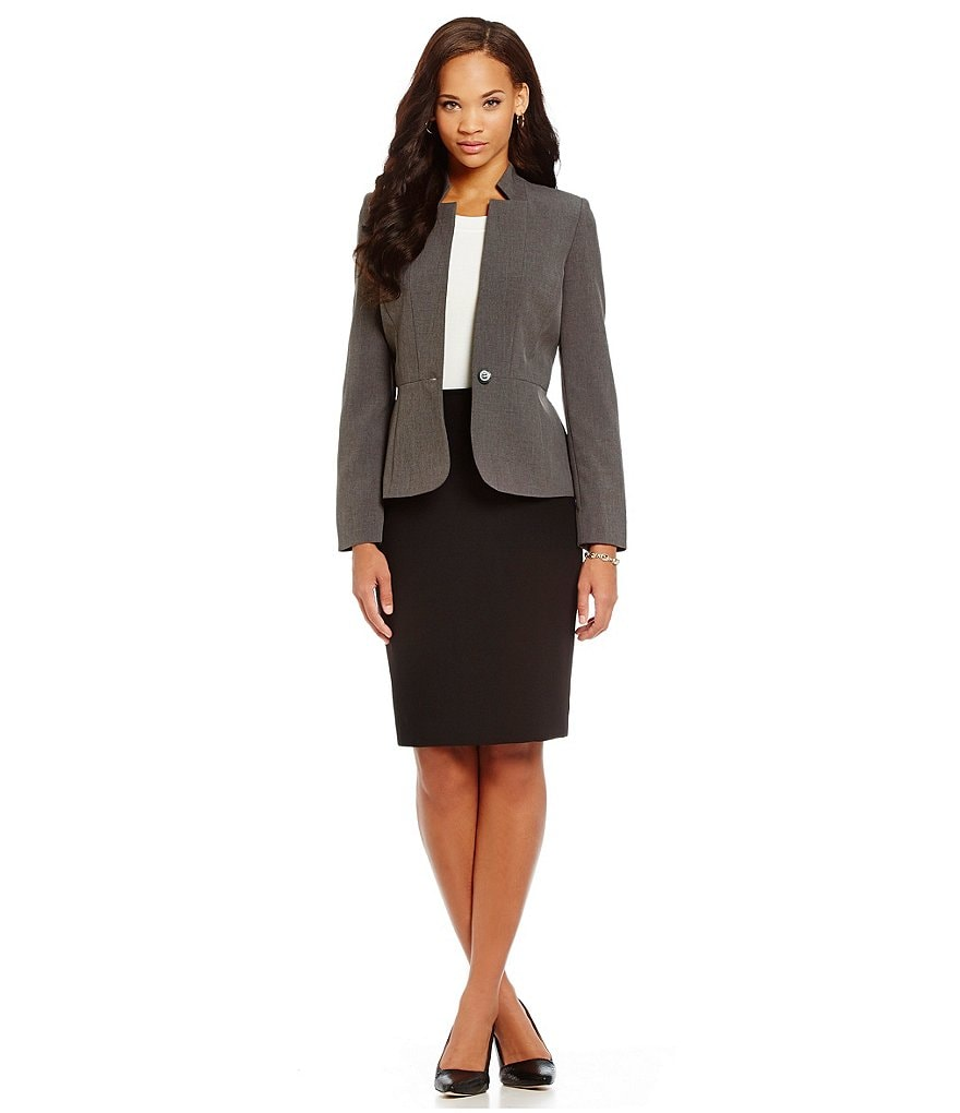 Preston & York Margo Melange Suiting Jacket & Kelly Pencil Skirt