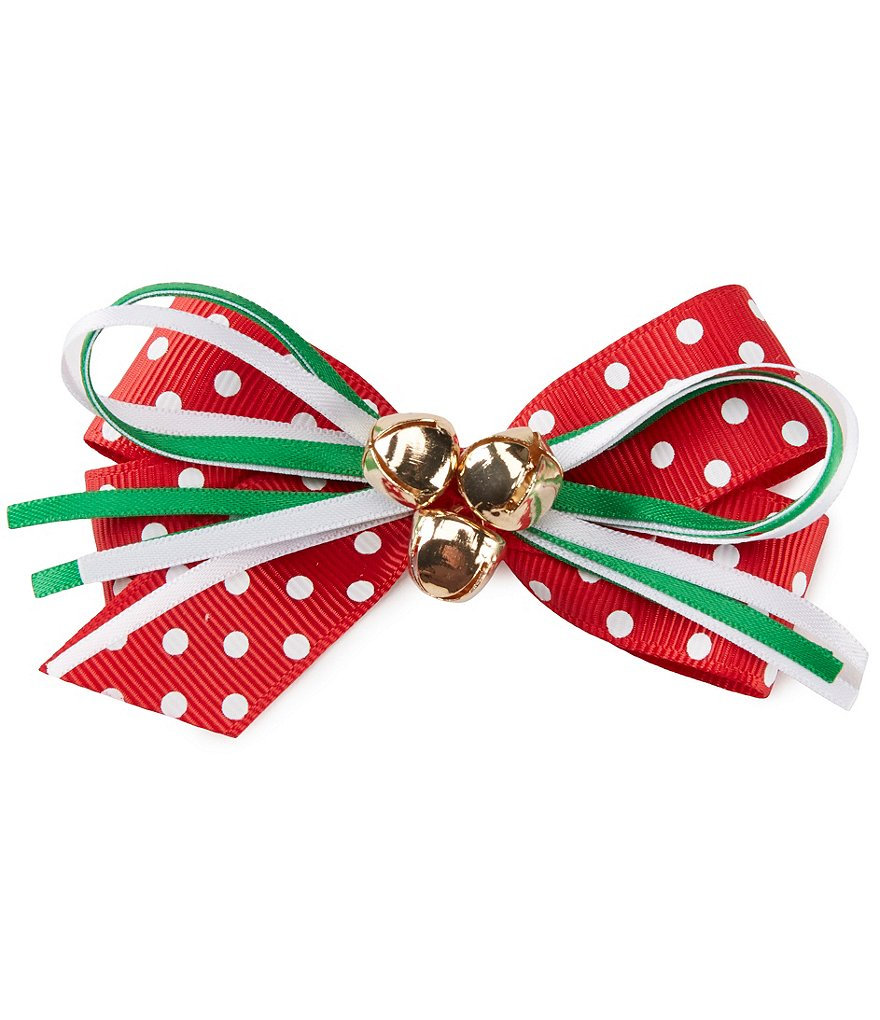 Copper Key Holiday Jingle Bell Bow