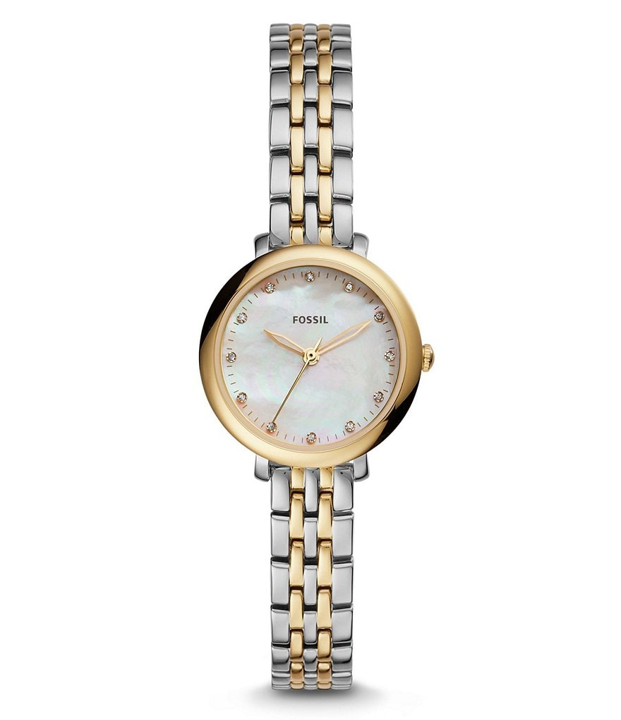 Fossil Jacqueline Mini Two-Tone Analog Bracelet Watch