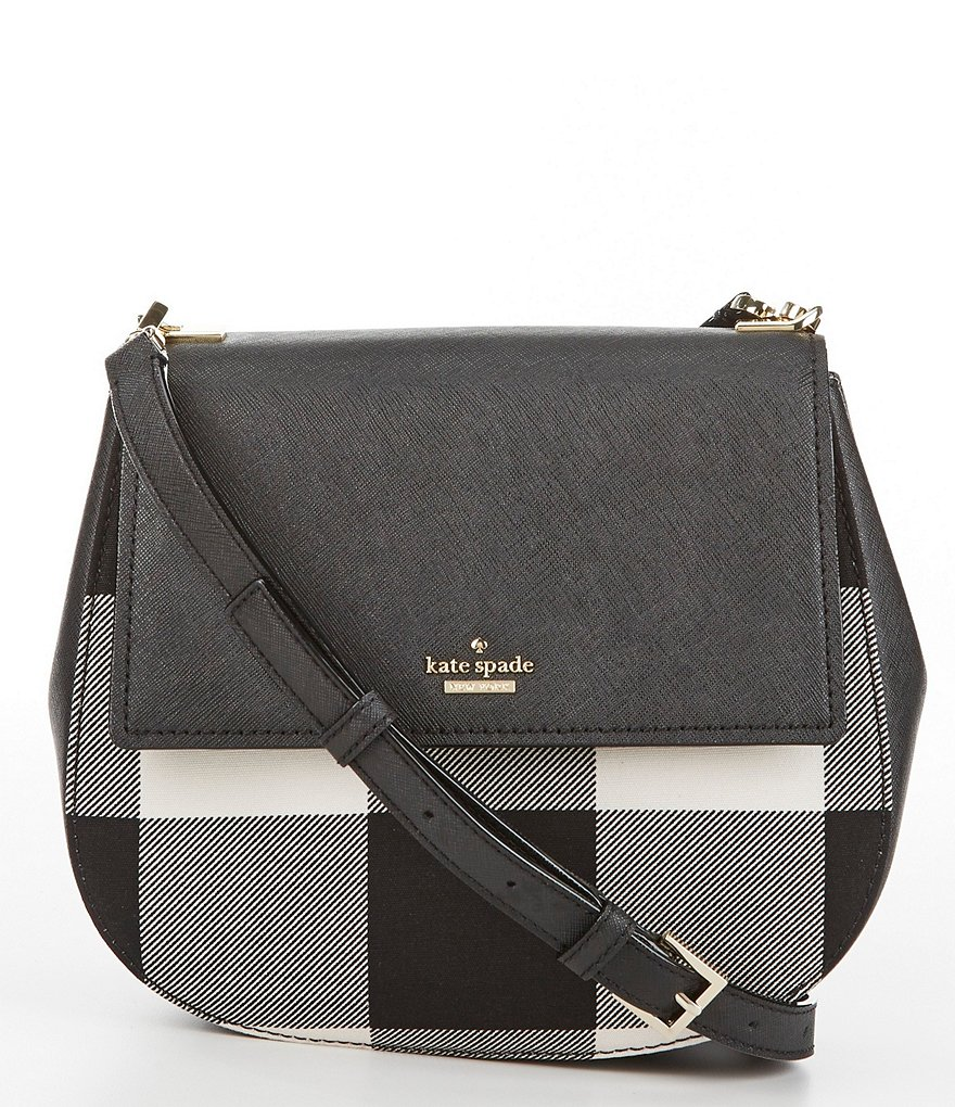 kate spade new york Cameron Street Collection Byrdie Plaid Cross-Body Bag
