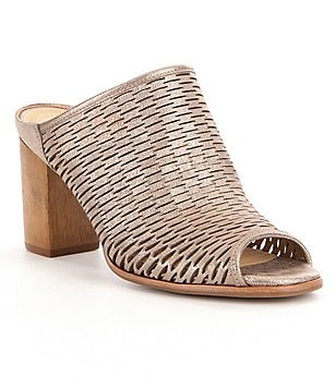 Nurture Wrenna Laser-Cut Leather Slip-On Mules