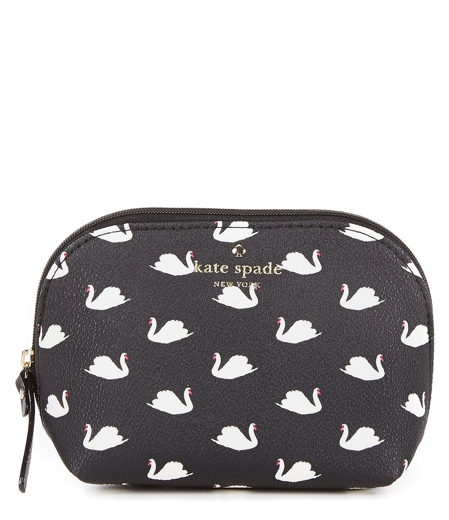 kate spade new york Hawthorne Lane Collection Small Annabella Swans Cosmetic Bag