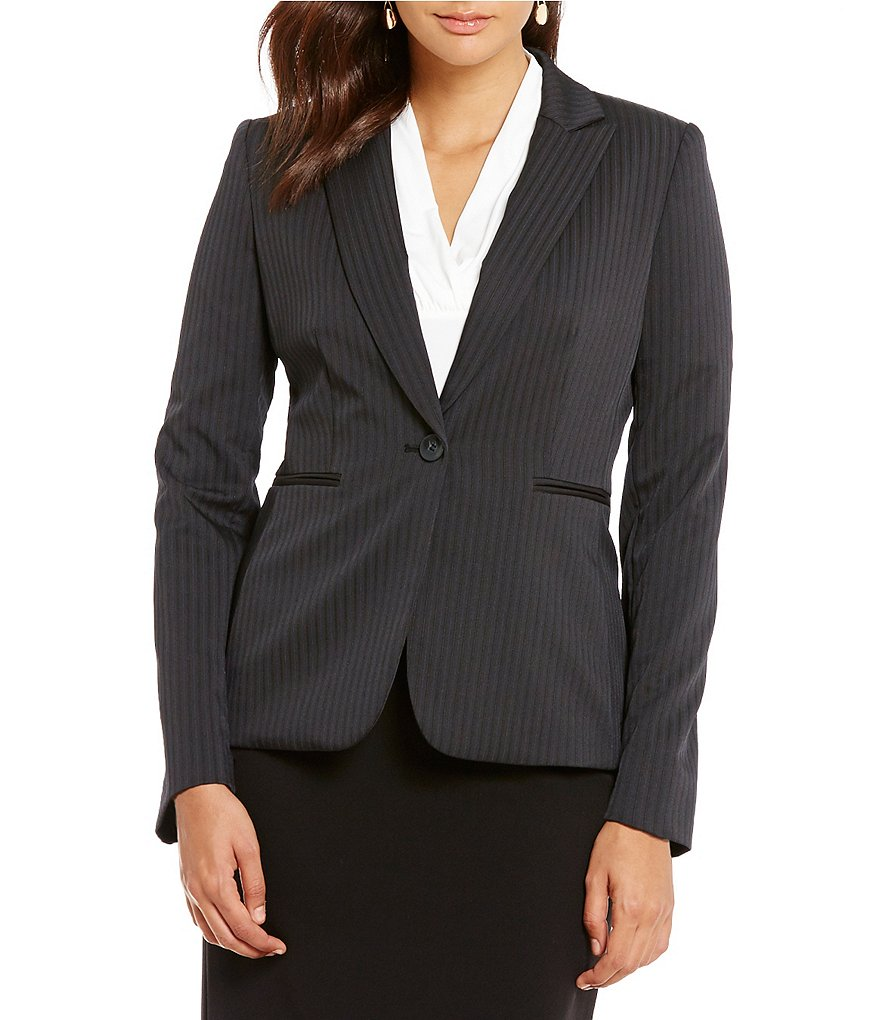 Alex Marie Game Of Glam Britta Pinstripe Blazer Jacket