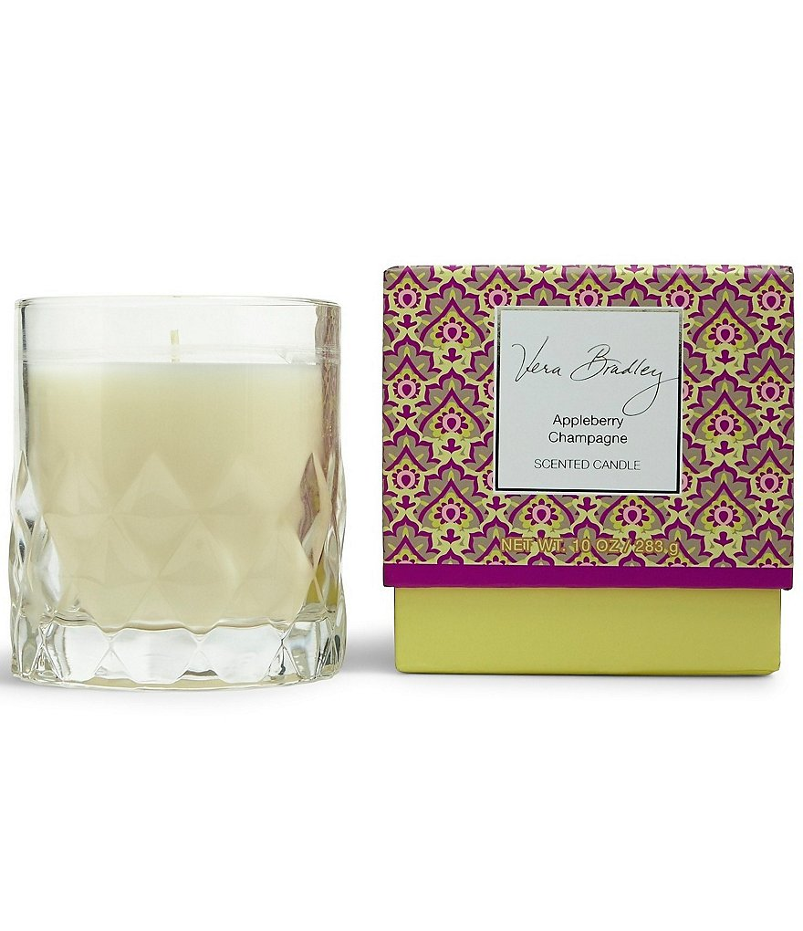 Vera Bradley Appleberry Champagne Glass Candle