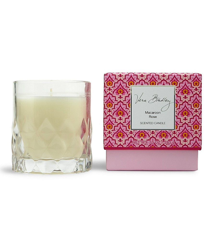 Vera Bradley Macaroon Rose Glass Candle