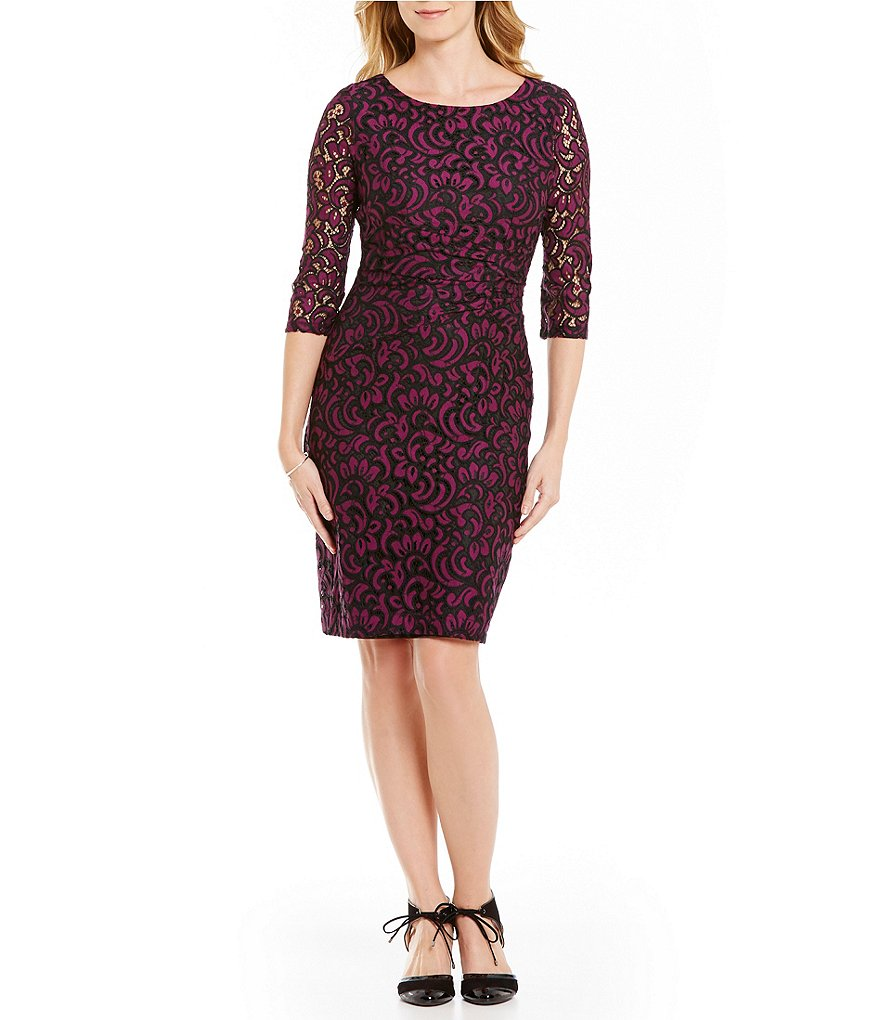 Alex Marie Minnie Two-Toned Lace Dress