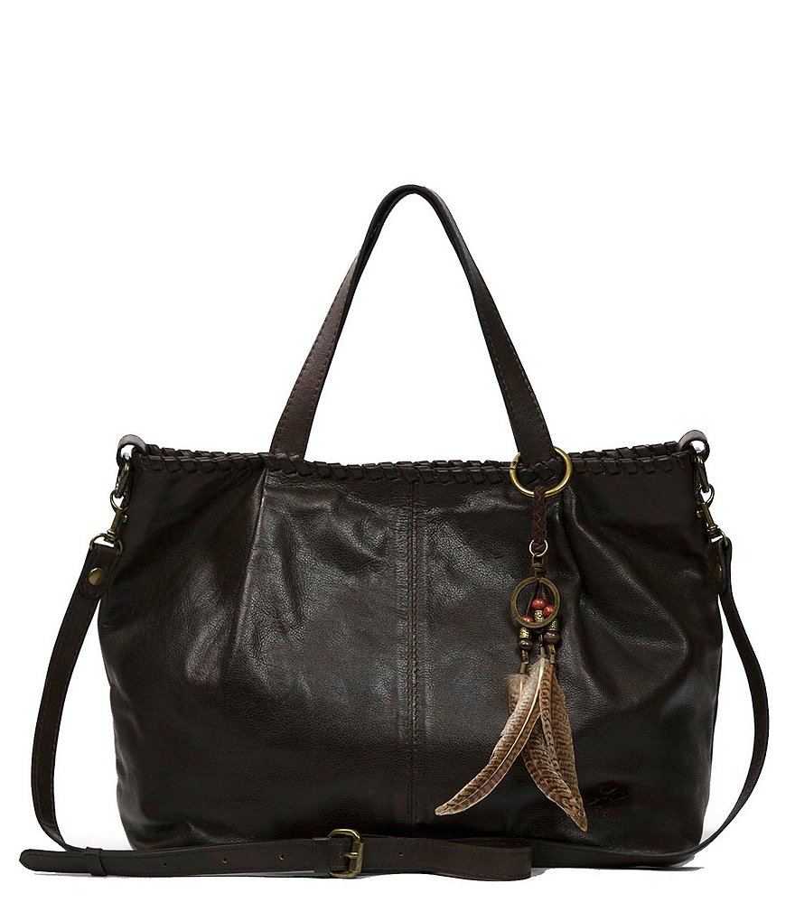 Patricia Nash Soft Italian Leather Collection Zola Tote with Feather Fob