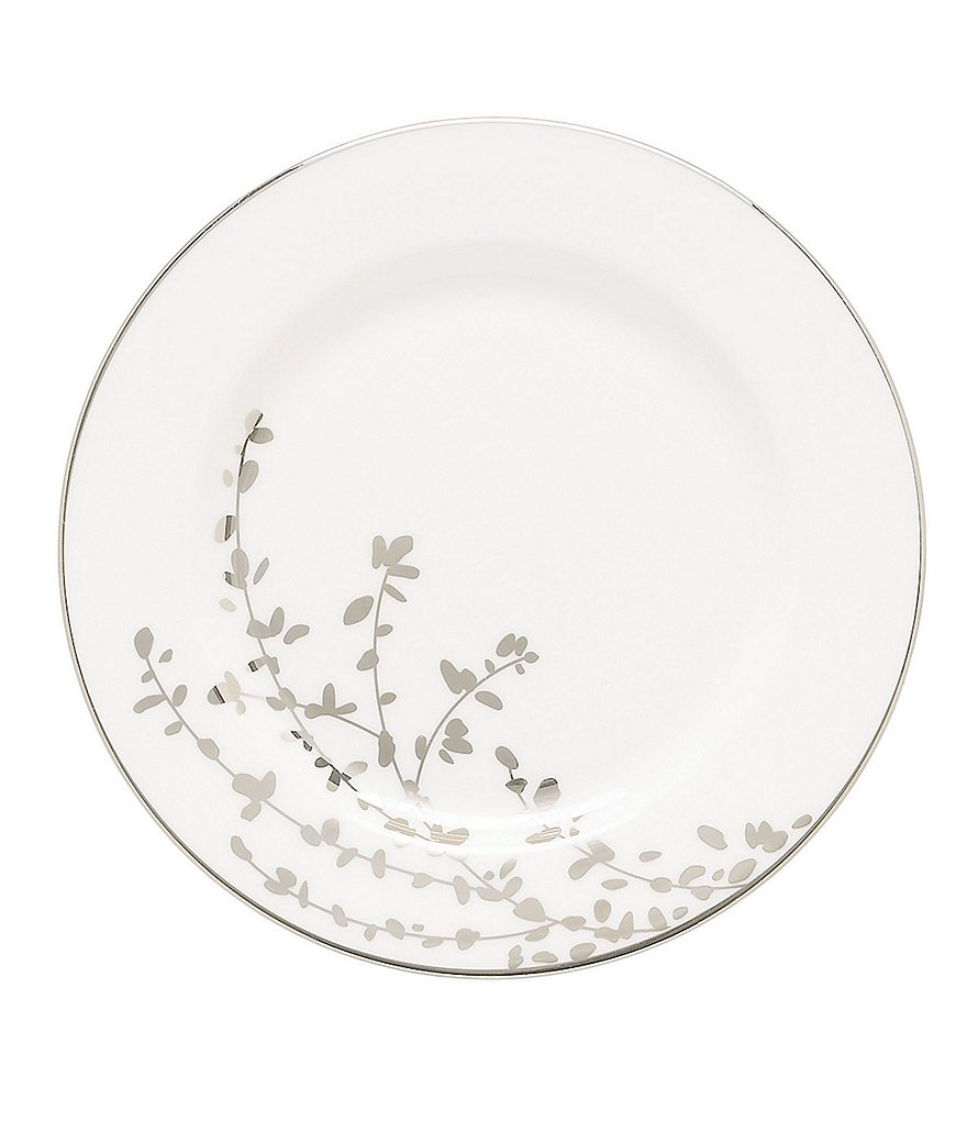 kate spade new york Gardner Street Platinum Branches Bone China Bread & Butter Plate