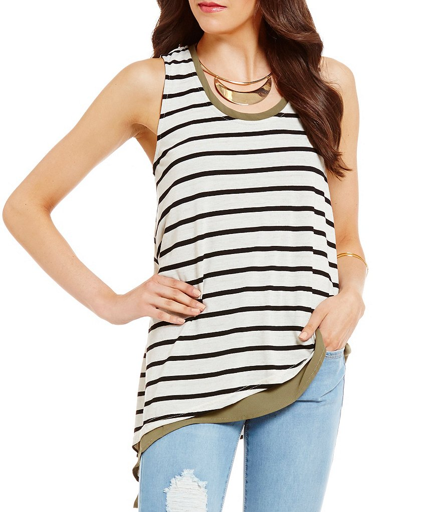 Copper Key Layered Stripe Tank