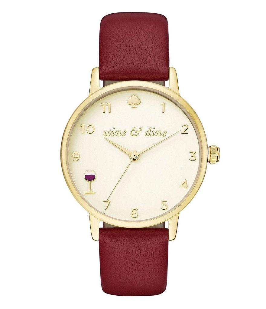 kate spade new york Metro Wine & Dine Analog Leather-Strap Watch