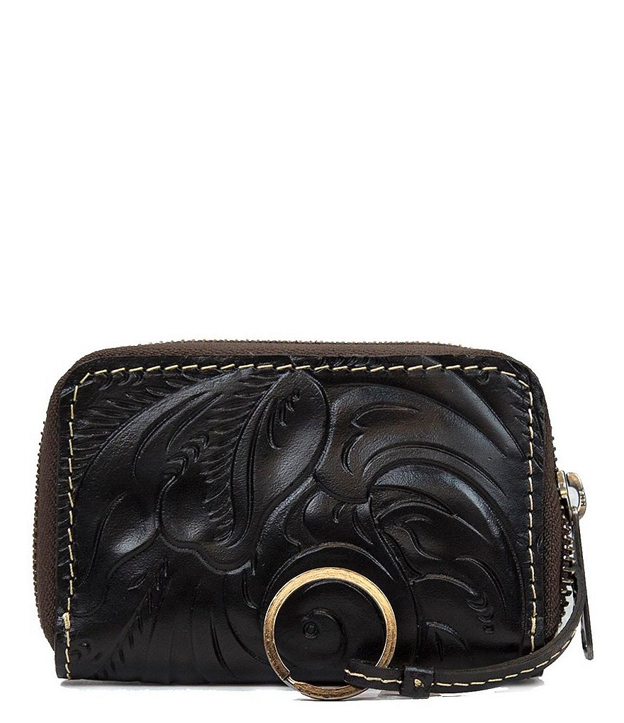 Patricia Nash Tooled Collection Abri Zip-Around ID Case