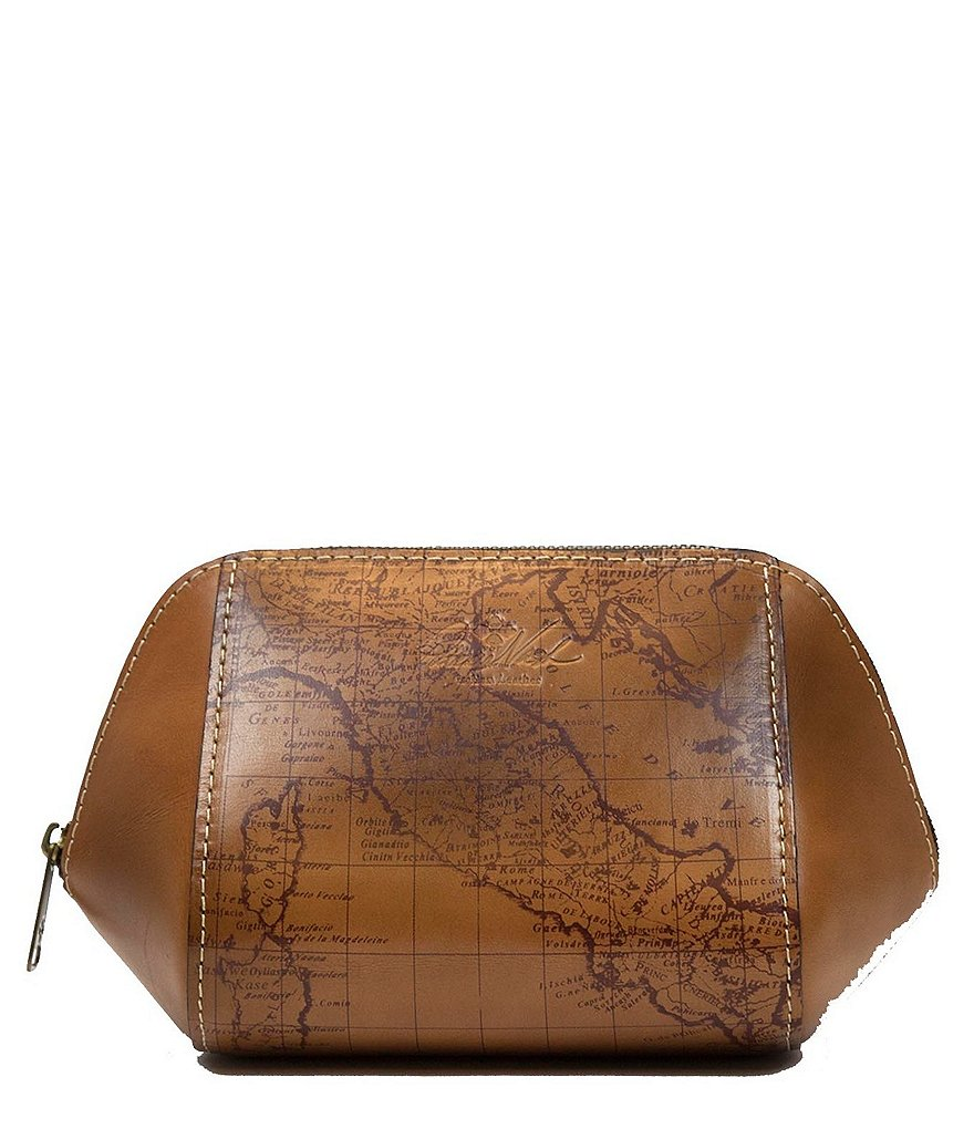 Patricia Nash Signature Map Collection Rocco Leather Trapezoid Case