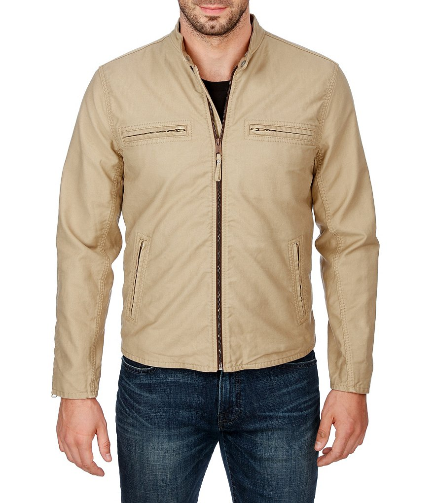 Lucky Brand Bedford Mock Neck Full-Zip Racer Jacket