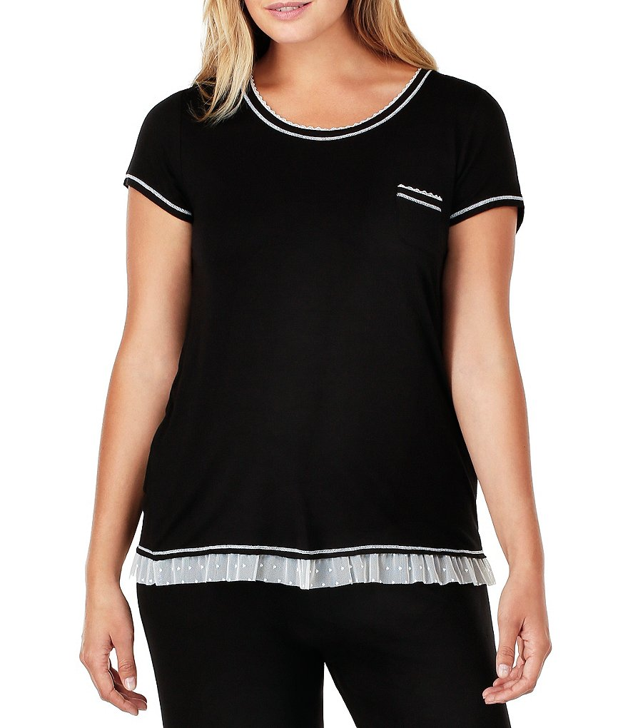 Kensie Plus Jersey Knit Sleep Top