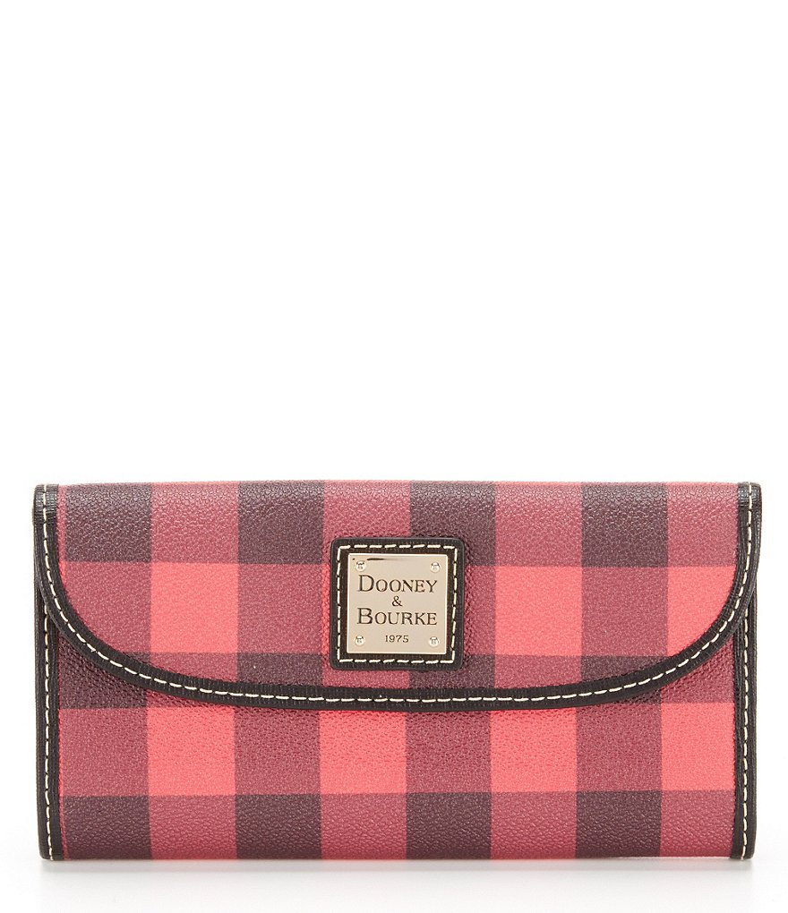 Dooney & Bourke Tucker Collection Buffalo Plaid Continental Clutch Wallet
