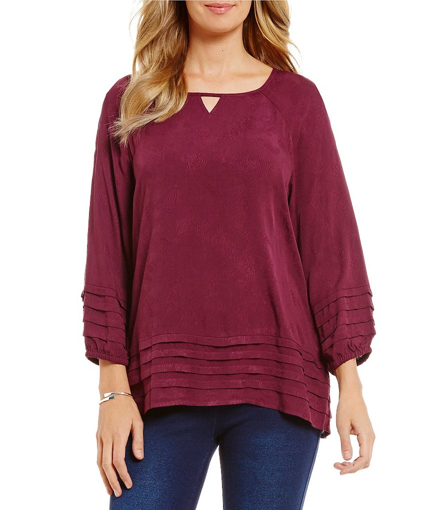 Westbound Keyhole Tiered Peasant Top