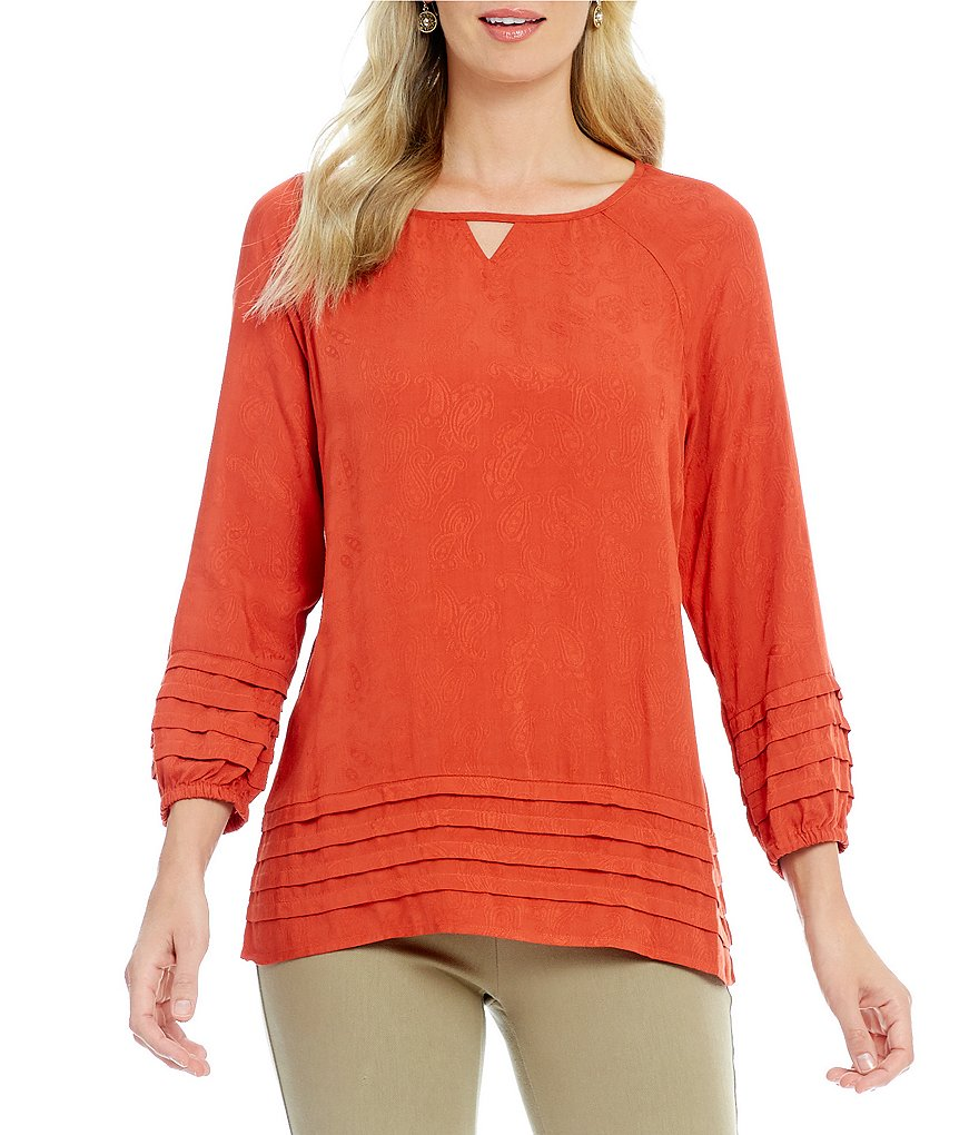 Westbound Petites Tiered Peasant Top