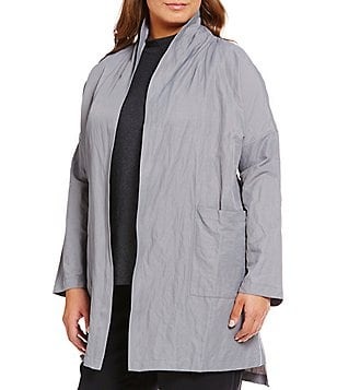 Eileen Fisher Plus Metallic Kimono Coat