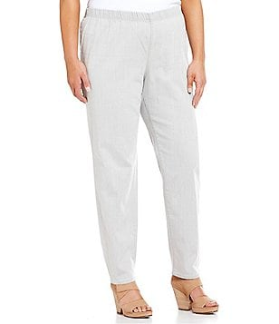 Eileen Fisher Plus Organic Cotton Slim Pants