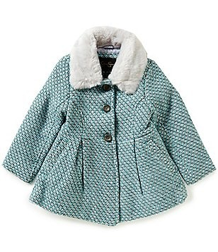 Jessica Simpson Little Girls 4-6X Faux Fur Trimmed Tweed Jacket