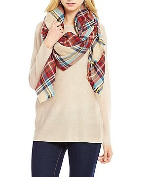 Collection 18 College Plaid Runway Blanket Wrap