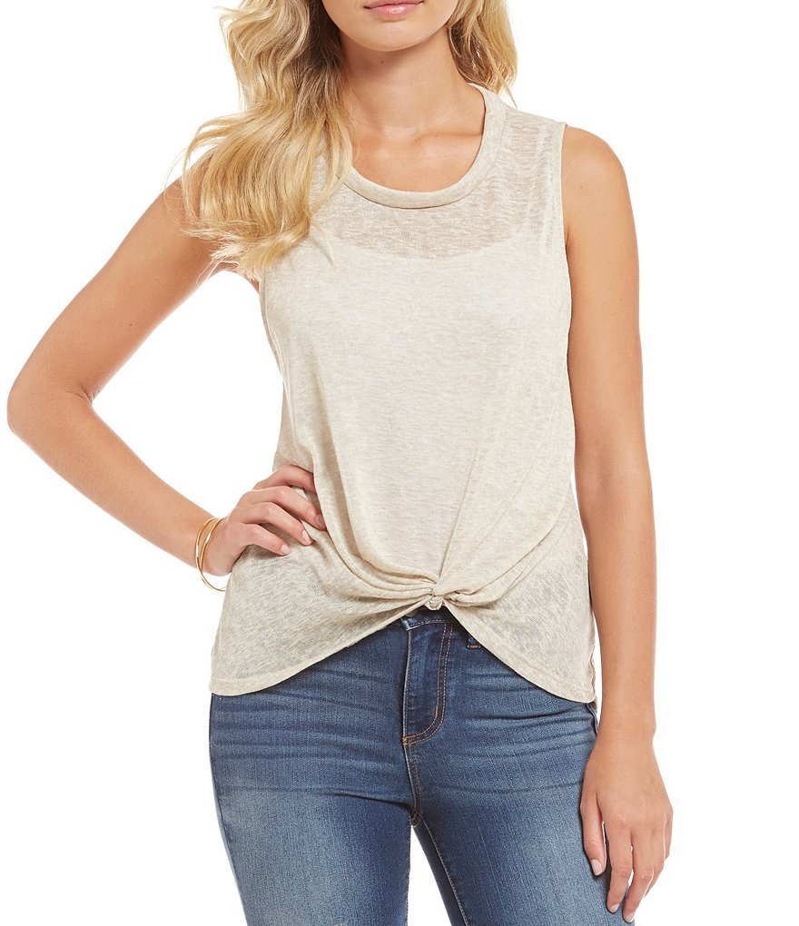 C&V Chelsea & Violet Twist Front Knit Top
