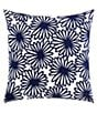 Color:Navy - Image 1 - kate spade new york Ikat Dot Daisy Crewel Square Pillow