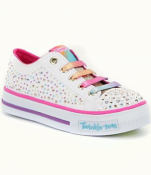 Skechers Girls´ Twinkle Toes Shuffles Twirly Toes Light-Up Sneakers