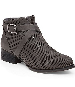 Vince Camuto Casha Perforated Buckled Booties