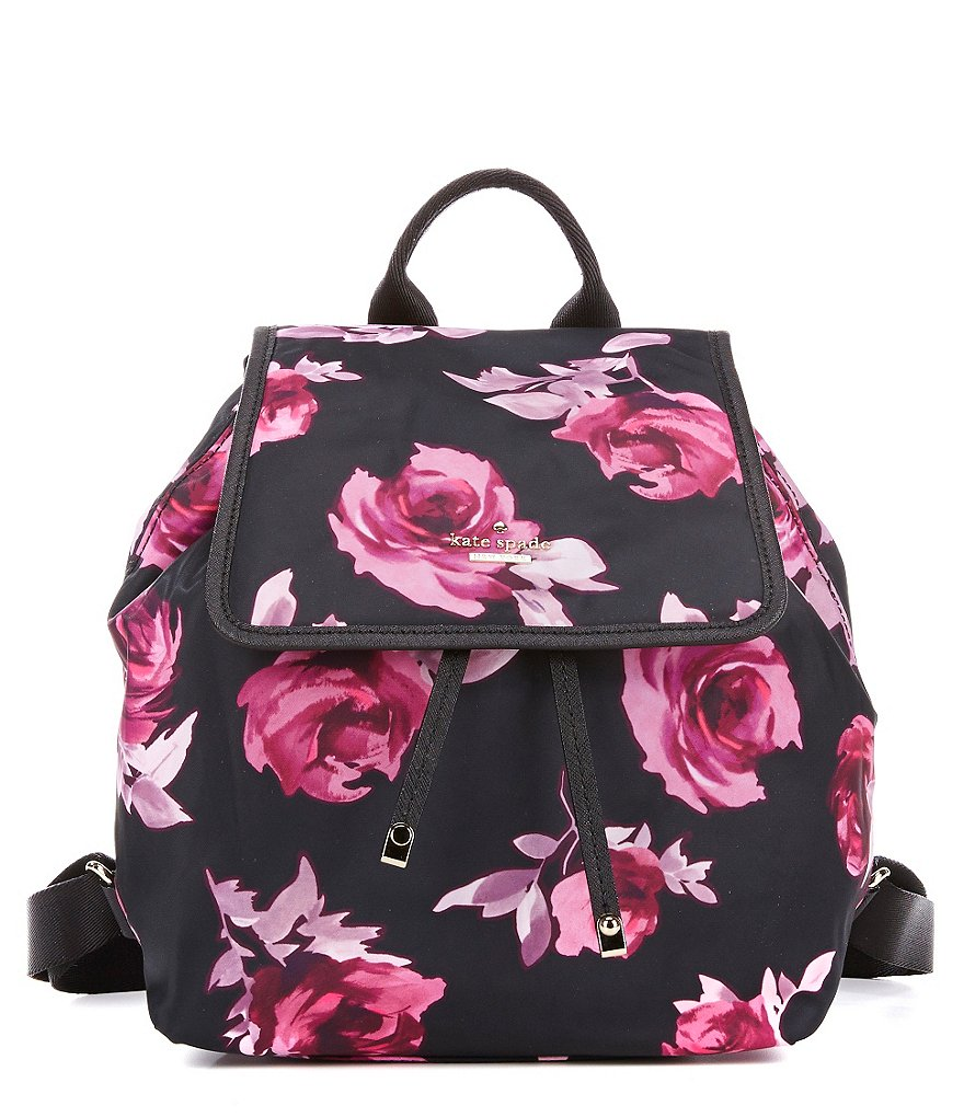 kate spade new york Molly Rose-Print Classic Nylon Backpack