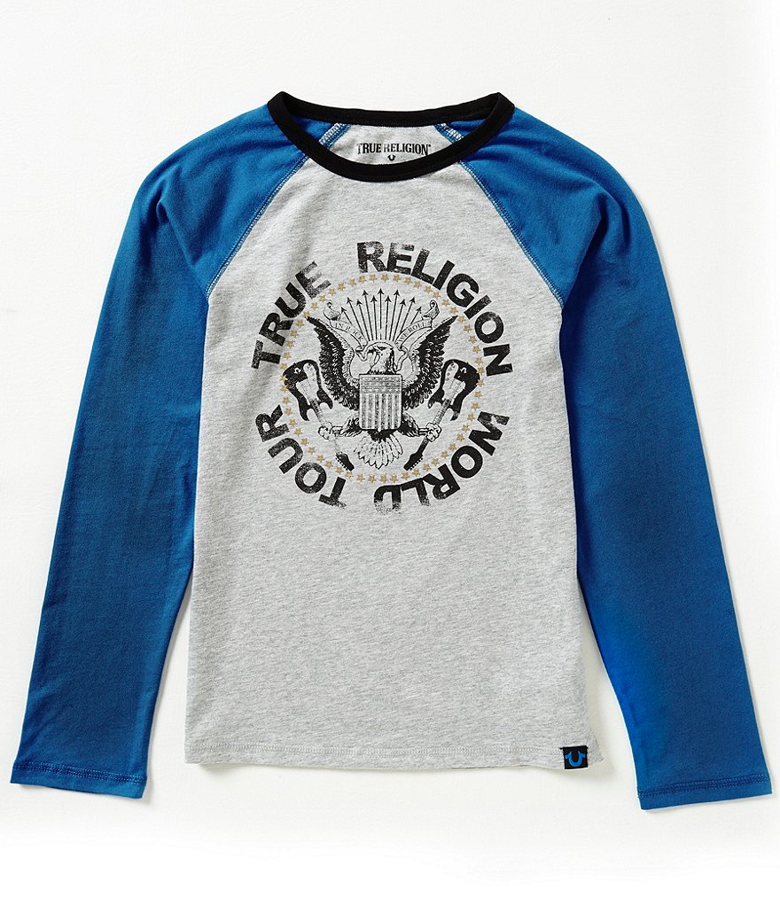 True Religion Big Boys 8-20 Rocker Long-Sleeve Raglan Graphic Tee