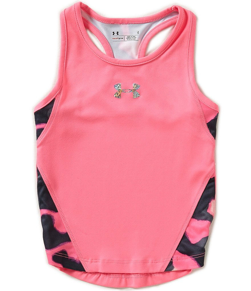 Under Armour Little Girls 2T-6X Kinetic Rapid Print-Blocked Racerback Tank