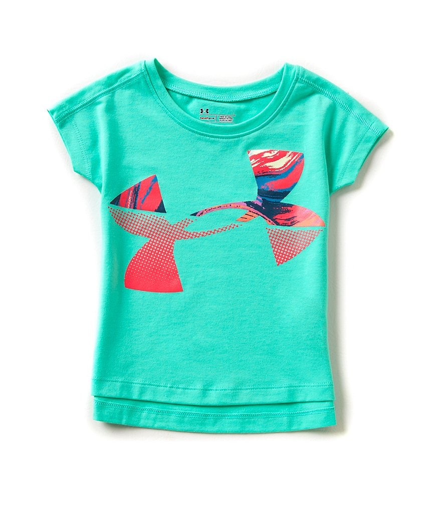 Under Armour Little Girls 2T-6X Tides Jumbo Logo Graphic Tee