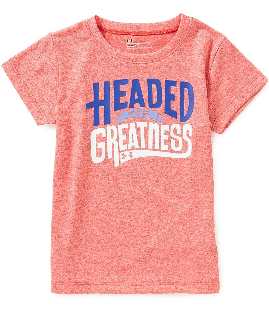 Under Armour Little Girls 2T-6X Headed For Greatness Graphic Tee