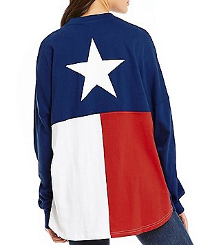 Royce Texas Flag Long-Sleeve Sweeper Top