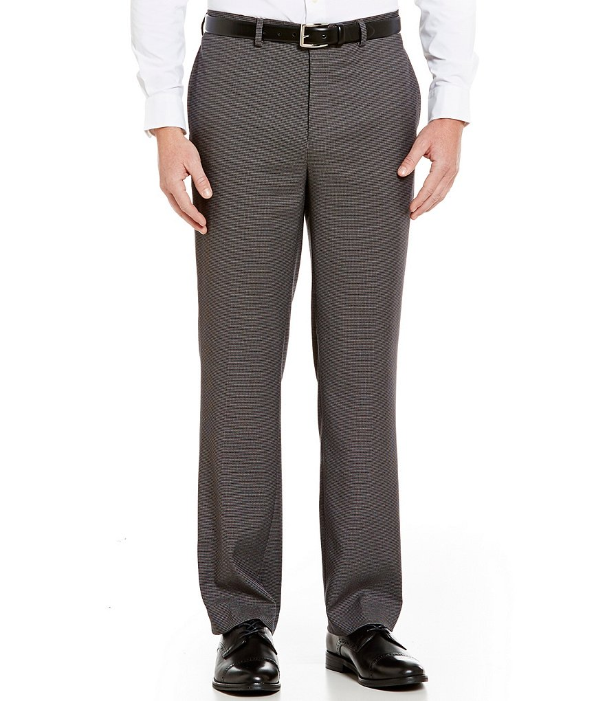 Ralph Ralph Lauren Slim Fit Flat-Front Houndstooth Dress Pants