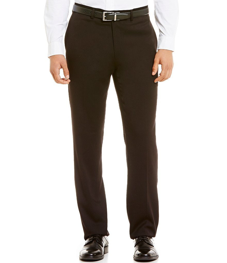 Ralph Ralph Lauren Slim Fit Flat-Front Solid Dress Pants
